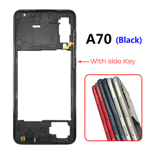 Image 4 - 10PCS Middle Frame Plate Cover With Power Volume Side Button For Samsung Galaxy A20S A30S A50S A30 A70