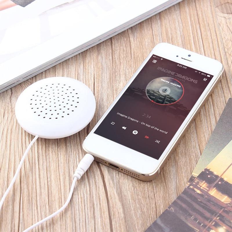 KEBIDU Mini Portable 3.5mm Dual Speakers Music Pillow Speaker Loudspeaker For MP3 MP4 For Mobile Phones PC Computer Laptop 4