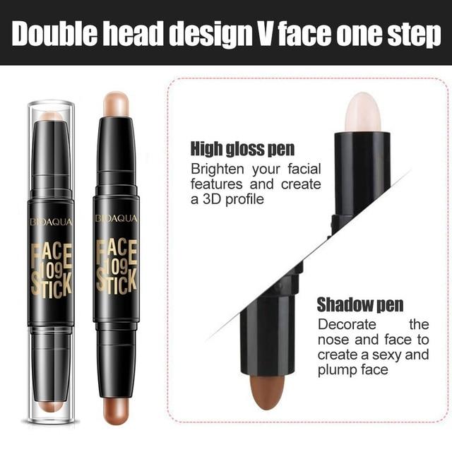 Bioaqua pro corretivo caneta rosto compõem líquido à prova dwaterproof água contorno fundação contorno maquiagem corretivo vara lápis cosméticos 3