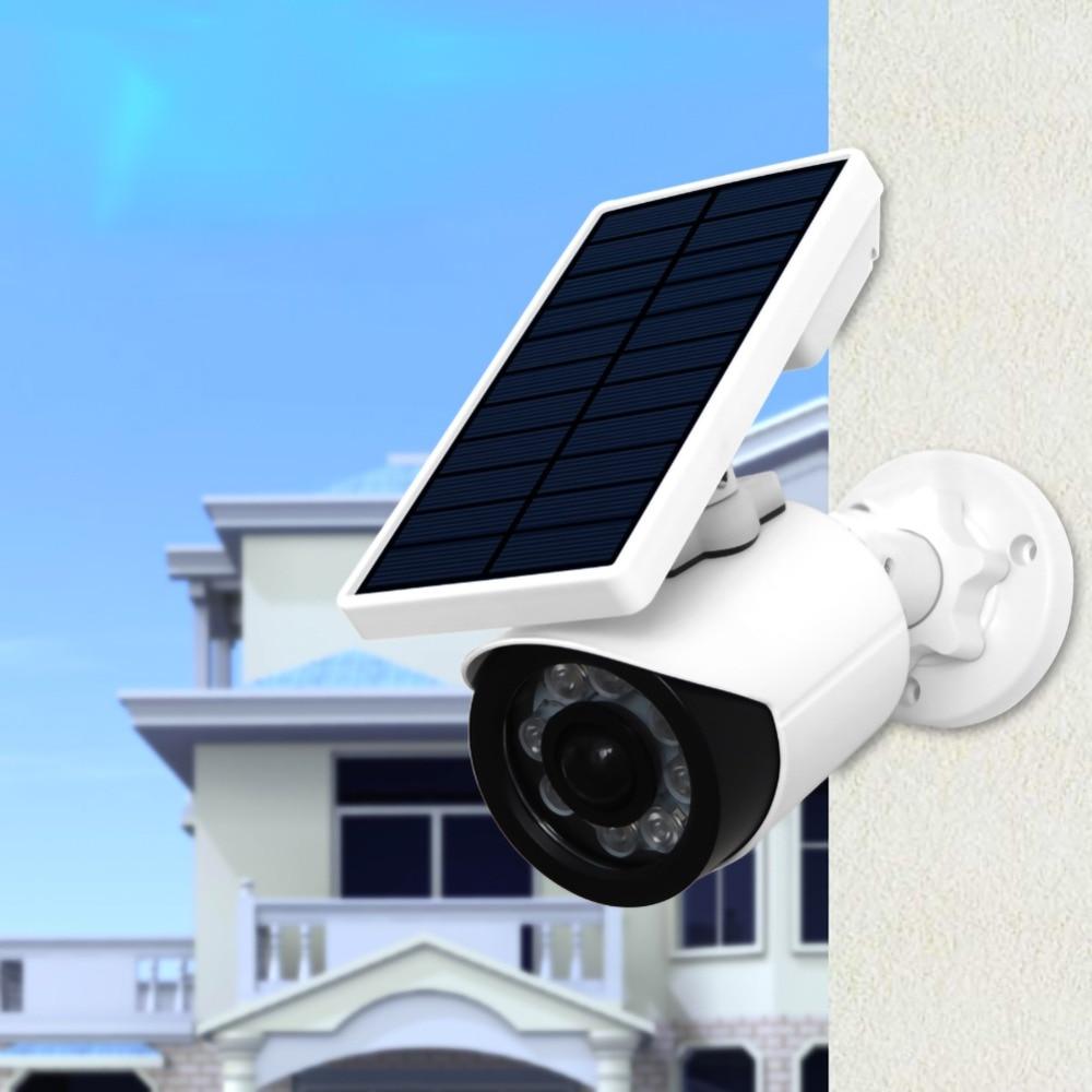 a energia solar luz jardim manequim câmera