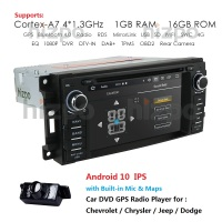 Android 10 4G 64G Car dvd player GPS Navigation for Jeep Grand Cherokee 2009 2008 2010 Wrangler Compass Dodge Chrysler GPS SD BT