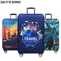 JULY'S SONG Verdicken Koffer Abdeckung Für 18-32Inch Koffer Gepäck Schutzhülle Reise Trolley Elastische Gepäck Abdeckung