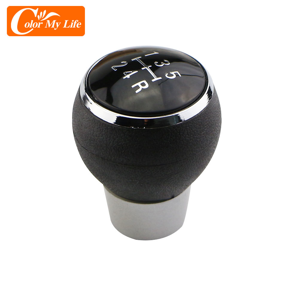 Color My Life Car 5 Speed Gear Head Shift Knob MT Handball for Mitsubishi Lancer EX EVO GTS ASX V3 V5 V6 Auto Parts Accessories