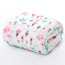 Toalla de baño para bebé, tela de muselina, albornoz para niño, manta para niño recién nacido, niño pequeño, niña, gasa de algodón 105*105cm