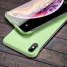 Phone Cases For iphone 7 case for iphone XR X 6 8 6S Solid Matte Cover for XS Max 7 8 Plus Back Frameless Slim Scrub Hard PC цена 2017
