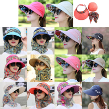 Hats Face-Protection Anti-Uv Sun-Hat Brim Foldable Wide Fashion Summer Women for Big