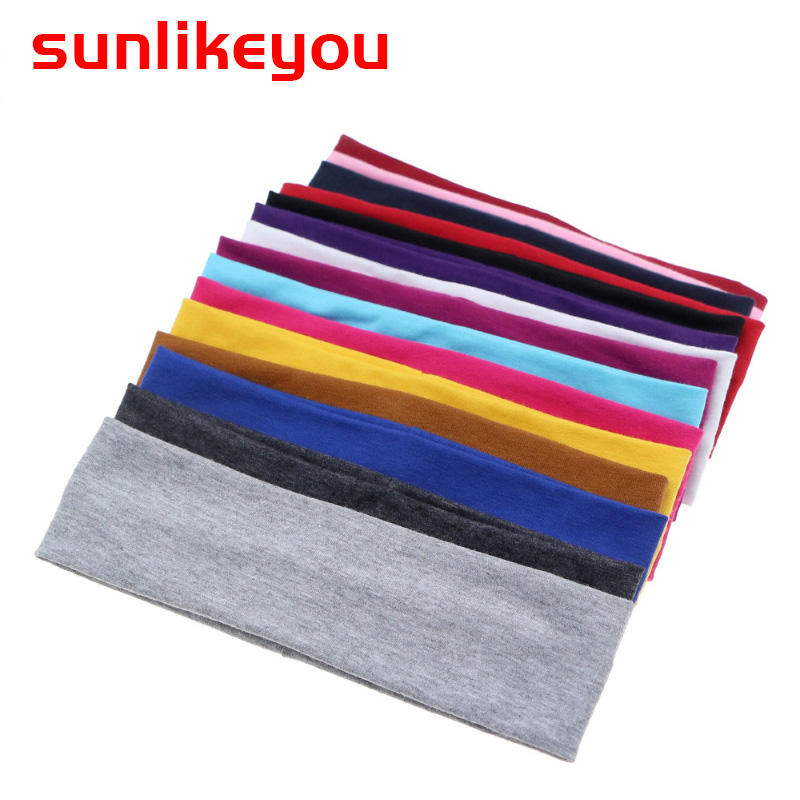 Sunlikeyou Newborn HairBands Boys Cotton Soft Elastic Headband For Girls Turban Solid Color Baby Headband Hair Accessories