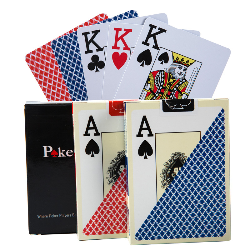 High Quality Waterproof PVC Plastic Playing Cards Set Trend 54pcs Deck Poker Classic Magic Tricks Tool Magic Poker Box-packed image