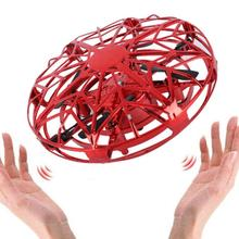 UFO Flight Simulator Auto Avoidance Hand Operated Drone Rc Remote Control Racing Aircraft Multidirectional Induction Toys Red