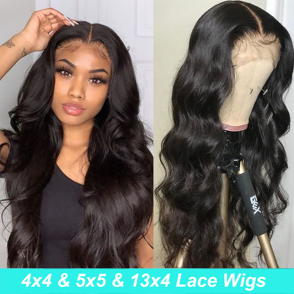 Body Wave Lace Front Closure Wig 30inch 13x6 Lace Front Human Hair Wigs Pre Plucked Transparent Wigs For Black Women Human Hair