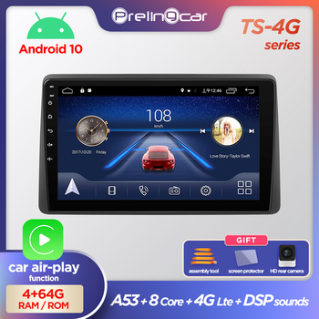 Prelingcar Android 10.0 NO 2 din DVD Car Radio Multimedia Video Player GPS Navigation For Renault Duster 2015-2018 Arkana 2019 image