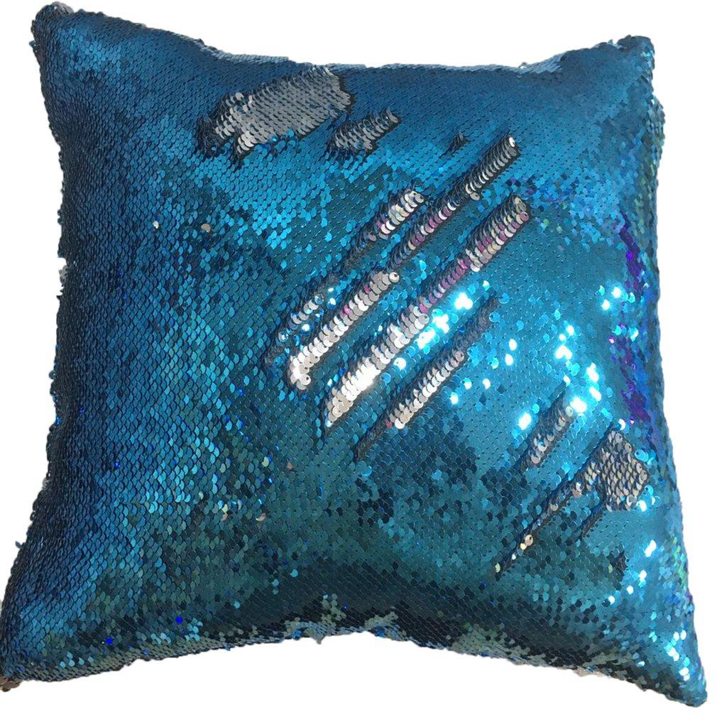 Created Mermaid Pillow DIY Two Tone Glitter Sequins Throw Pillows Cafe Home Decorative Cushion Case Sofa Car Covers