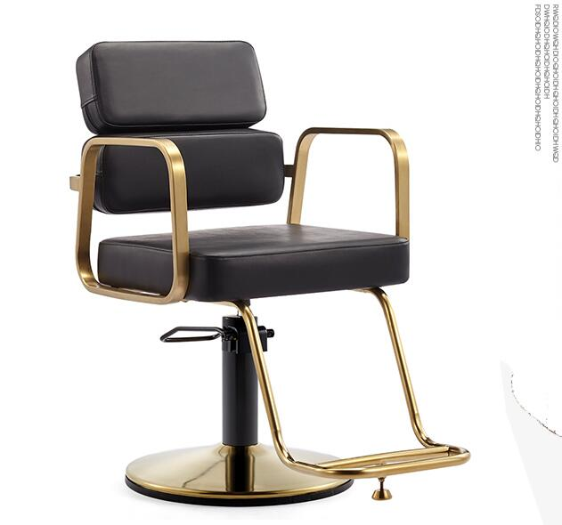 New style barbershop chair special lift stainless steel hair cutting chair web celebrity upscale hair salon stool