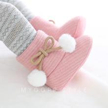 Осенние хлопковые ботинки для маленьких мальчиков и девочек; повседневная обувь с героями мультфильмов; Милая нескользящая обувь с мягкой подошвой для новорожденных