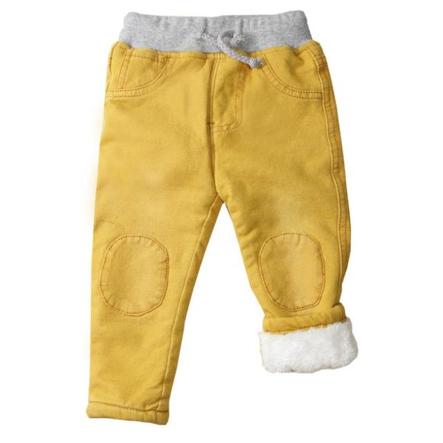 Baby Boys Clothing High Quality Thicken Winter Warm Cashmere Jeans  5