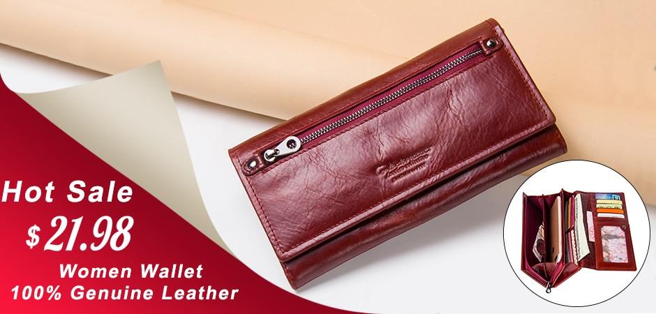 marca de alta qualidade carteira couro genuíno