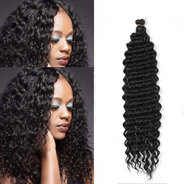 22inch Long Deep Twist Crochet Hair Freetress Water Wave Hair Synthetic Braiding Hair Extensions For Black Women Hair Expo City