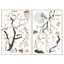 Большой размер дерево наклейки на стену с изображением птиц цветок домашний декор обои для гостиной спальни Diy виниловые комнаты украшения