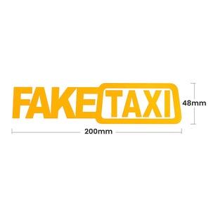 Image 3 - 2 قطعة ملصقات السيارات JDM الانجراف سباق السيارات وهمية تاكسي مضحك ملصق مائي X2
