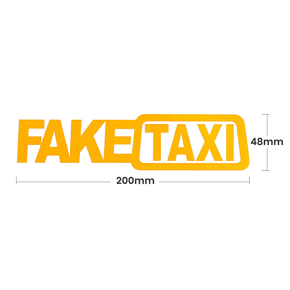 Image 3 - 2PCS Car Stickers JDM Drift Race Car FAKE TAXI Funny Sticker Decal X2-in Car Stickers from Automobiles & Motorcycles