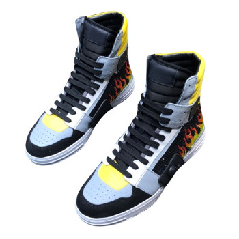 newstarbag PP 2021 Sneaker Italian winter high top shoes original skull head rivet top leather men's shoe Diamond high-tops
