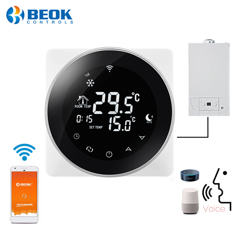 Beok TGR87 WIFI Gas Boiler Touch Screen Room Thermostat Weekly Programmable Smart Temperature Regulator