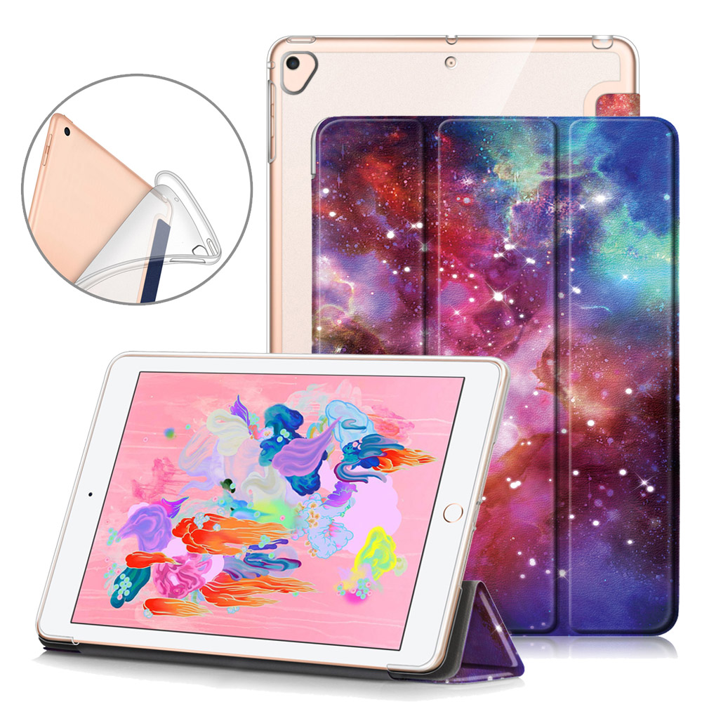 Slim Funda IPad Air 2  Air 1 Case, Soft Silicone Back Cover,  Adjustable Stand Case For IPad 9.7 2018/2017 Tablet Case