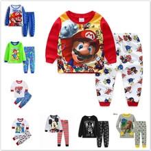 Children's Clothing Sets Baby Boys Toddler Super Mario Sleepwear Kids Nightwear