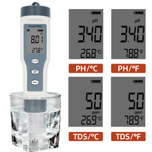 Digital TDS PH Temperature Meter 3 in 1 Water Quality Tester 0.01 0-14 PH Measurement Range 0-19990 PPM for Drinking Water Pools