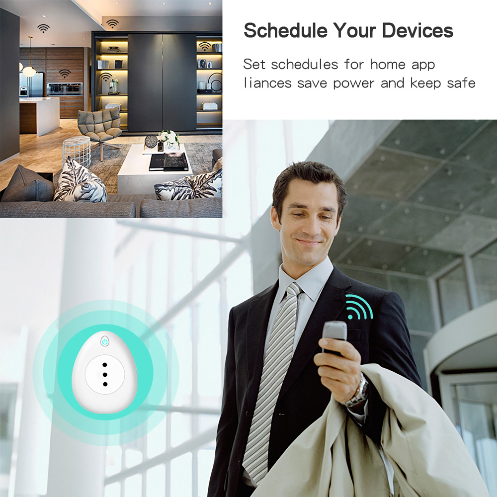 Smart Plug Wifi Smart Socket 15A Italy Chile Power Monitor Voice Control Works With Google Home Alexa Tuya Smart life APP