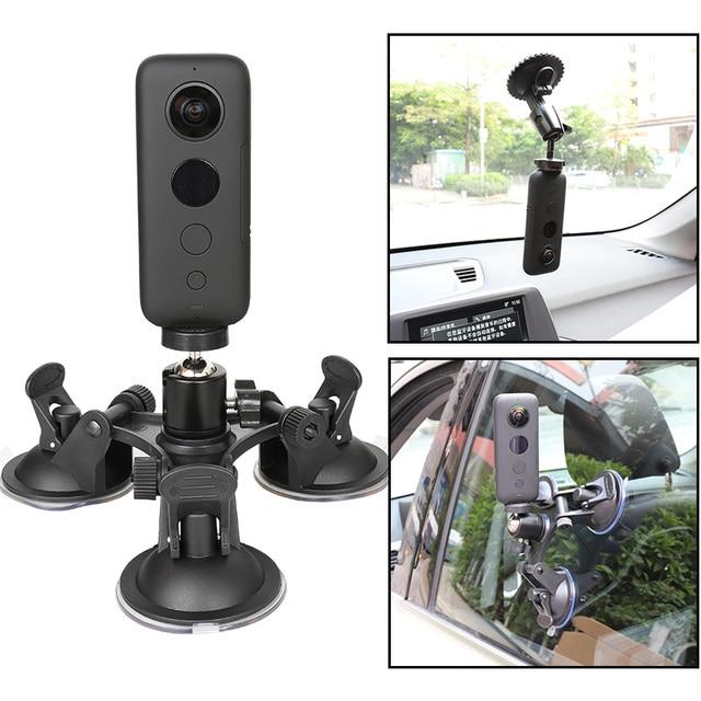 عمل كاميرا سيارة شفط كأس ل Insta360 واحد X GoPro بطل 8 7 5 سوني SJCAM يي 4K EKEN DJI جبل زجاج النافذة مصاصة الملحقات