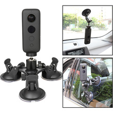 Kamera akcji przyssawka samochodowa do Insta360 One X GoPro Hero 8 7 5 SONY SJCAM Yi 4K EKEN DJI góra szyba okienna Sucker akcesoria