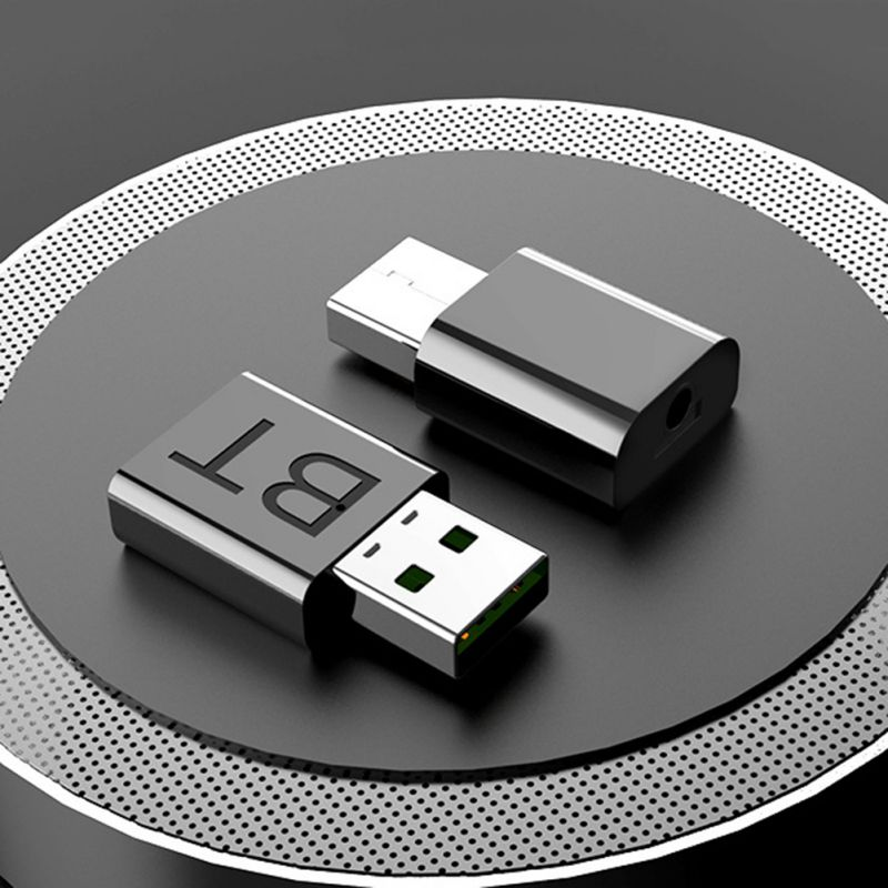 Fastest Delivery USB <font><b>Bluetooth</b></font> 5.0 Transmitter <font><b>Receiver</b></font> Wireless Audio Dongle AUX Port Adapter <font><b>Bluetooth</b></font> Transmitter <font><b>Receiver</b></font> image