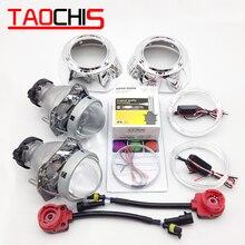 TAOCHIS 3.0 inch Bi-xenon Hella Projector Lens HID D2S with Shroud Devil Eyes Head Lamp Demon eye Headlight lens коврик kingston hyperx fury s pro speed edition hx mpfs s xl