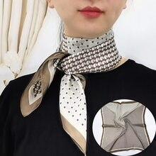 Venda quente 2020 feminino lenço de seda pescoço cachecóis de cabelo quadrado foulard cabeça marca xales e envoltórios neckerchief bandana 70*70cm hijab