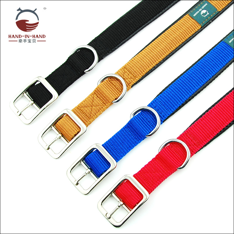 Hand-in-hand Pet Supplies Pet Collar Large Dog Collar Collar Collar Dog Supplies Webbing Foam Neck Band