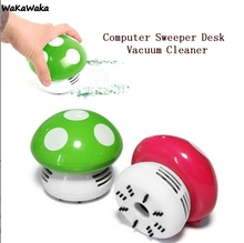 5 Colors Cute Mini Mushroom Desk Vacuum Cleaner Corner Desk Table Dust Collector Sweeper Computer Cleaning Tools