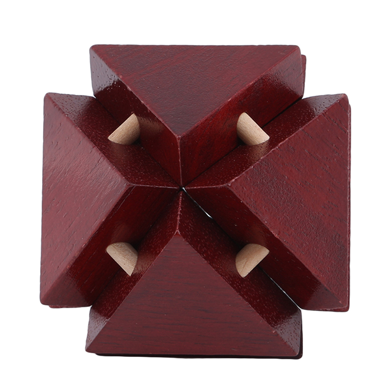 3D Wooden Puzzle Toys Game  Lock Cube Brain Teasers Educational Toy For Kids Adults Building Kit Block Model