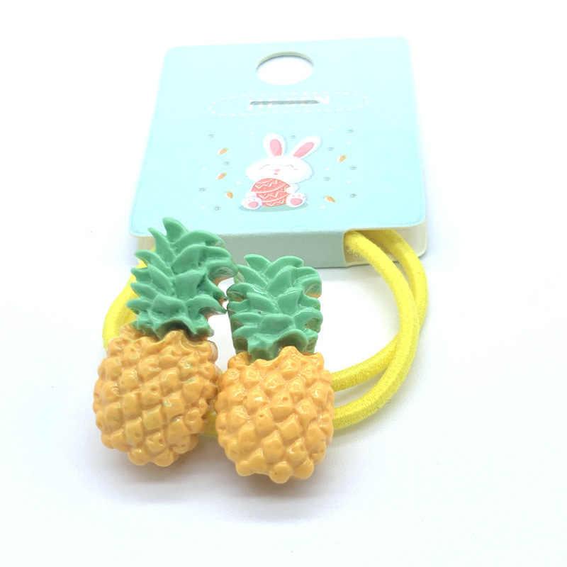 2 יח'\אריזה ילדי מיני 3cm אלסטי גומי להקות בנות חמוד גזר סוכריות פירות שיער להקת ילדים קוקו מחזיק שיער אבזרים