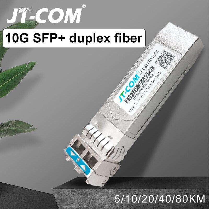 Galleria fotografica 10G SFP + duplex LC SFP Modalità Singolo Modulo 2 ~ 80km di Fibra Ottica Modulo 1310nm con Cisco/Mikrotik/<font><b>Huawei</b></font> Interruttore Compatibile Completo