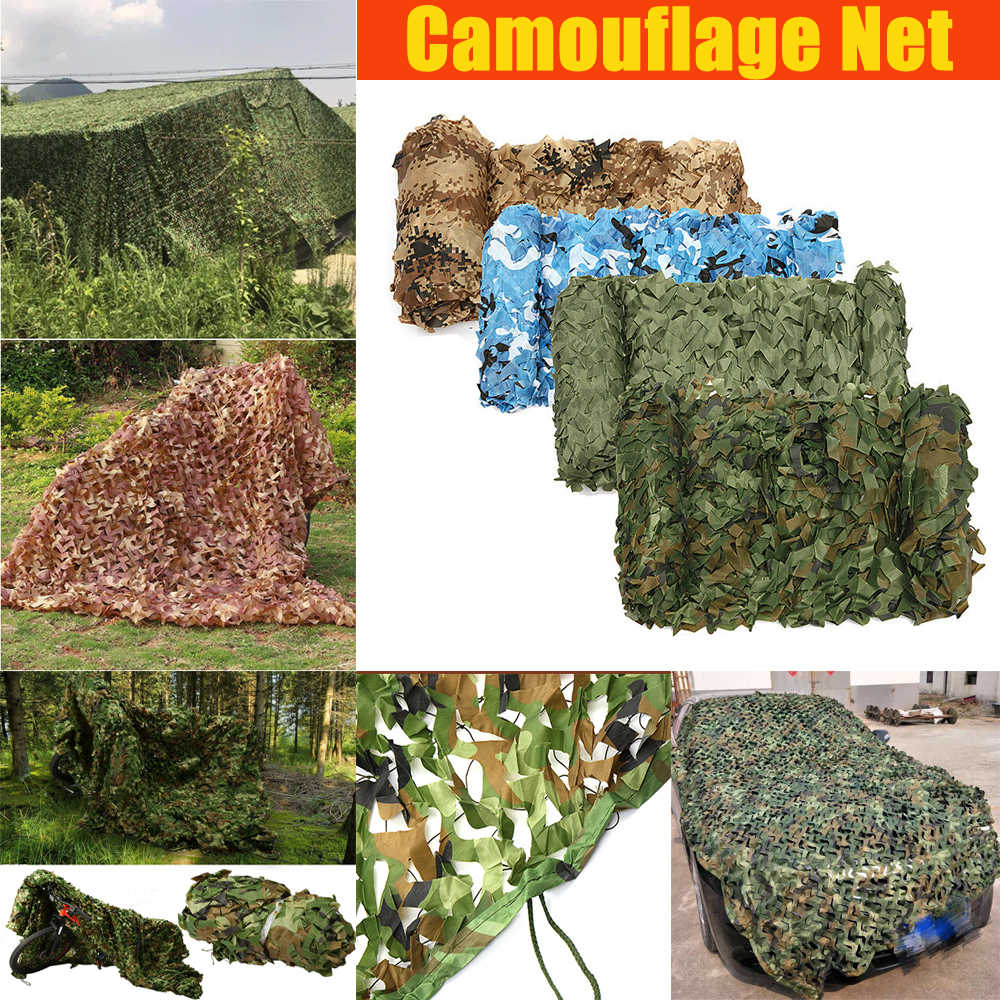 Outdoor Jungle Military Camouflage Nets for hunting Woodland Army Camo netting fabric Camping Sun ShelterTent Shade sun shelter