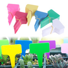 High Quality 100PCS Plastic Plants Tags Nursery Garden Ring Label Pot Marker Stake Hanging Tags Greenhouse Bonsai Collar Tags(China)