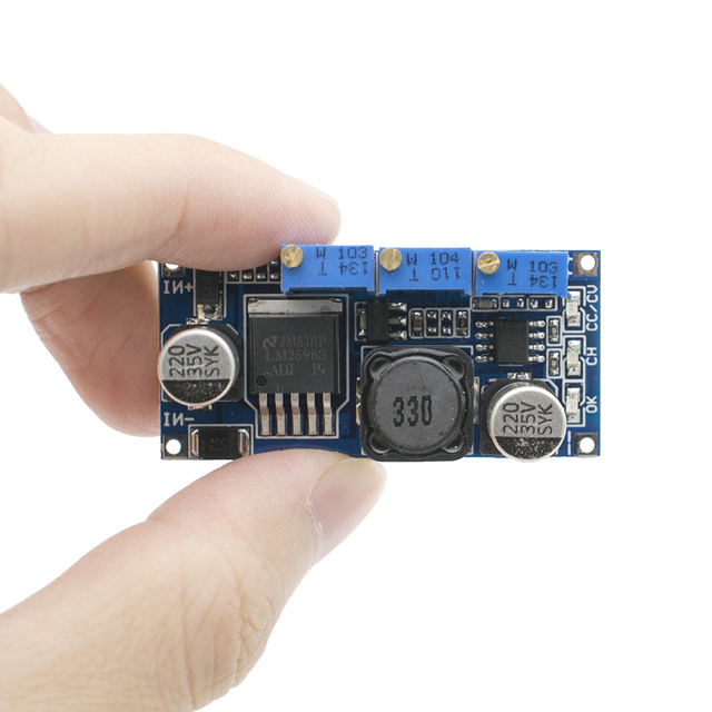 LM2596 ledドライバDC DCステップダウン調整可能なcc/cv電源モジュールバッテリー充電器調節可能なLM2596S定電流