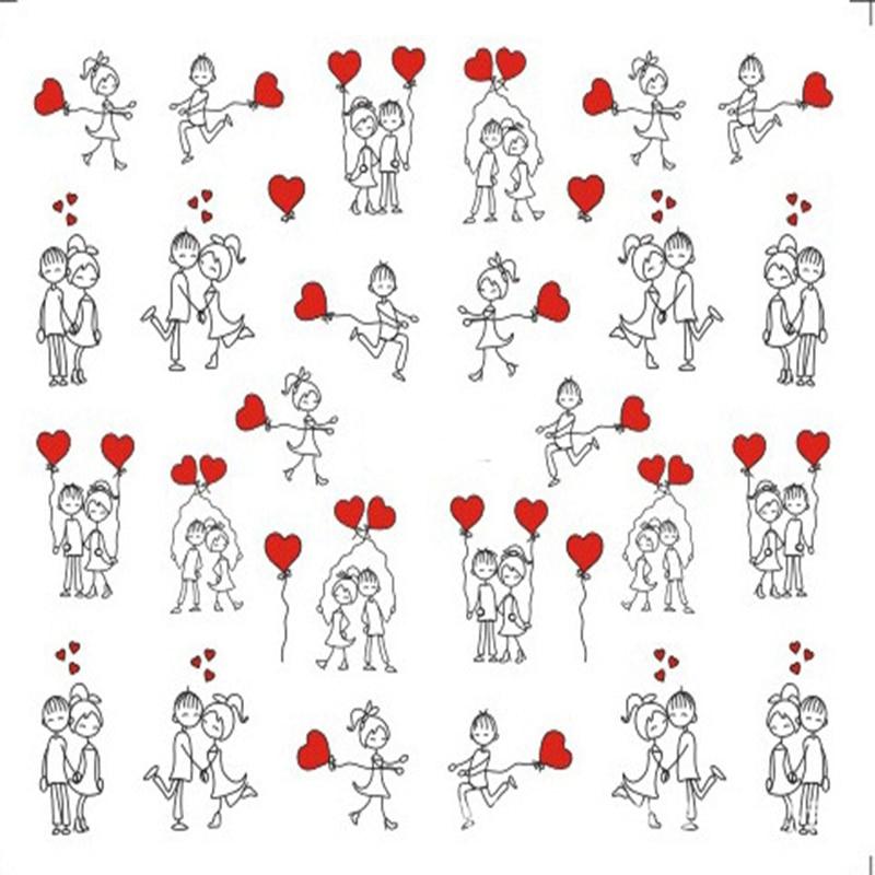 1 Folha Do Dia Dos Namorados Etiqueta Do Prego Letras Amor Desenho