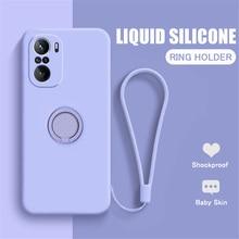LOVECOM – coque en Silicone avec anneau magnétique pour Xiaomi, compatible Mi POCO F3, X3 Pro, NFC, 10T, 10 Lite, Redmi Note 10, 9 Pro, 9S, 10S