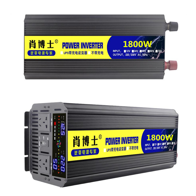 Hi Quality <font><b>Power</b></font> 1800W 12V DC to 220V AC <font><b>Inverter</b></font> 2 in 1 Converter 50HZ with USB Battery Charger Function <font><b>Inverters</b></font> image