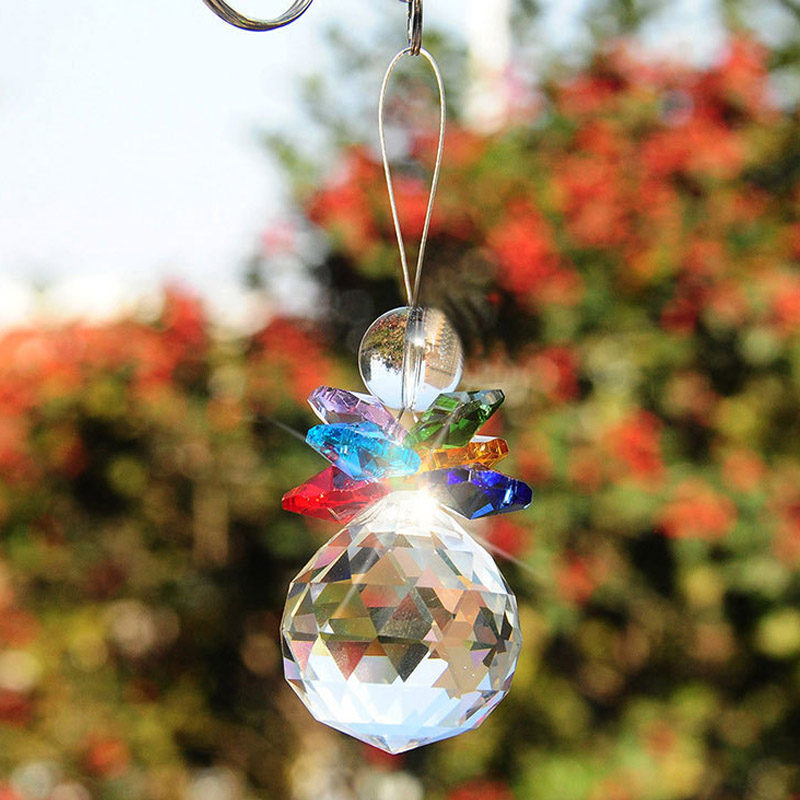 Snowman Crystal chandelier beads transparent glass crystal light chain rings For prisms beaded decoration