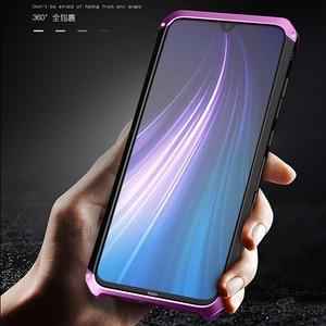 Image 4 - ケース Xiaomi Redmi 注 8 プロアルミニウム金属フレームハードプラスチックバックカバー Xiaomi Redmi 注 8 プロ fundas 完璧な感