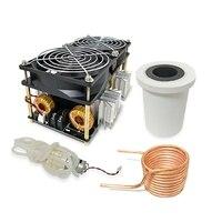 2500 w zvs aquecedor de indução de alta frequência placa de aquecimento por indução pcb metal derretido + bobina cadinho bomba