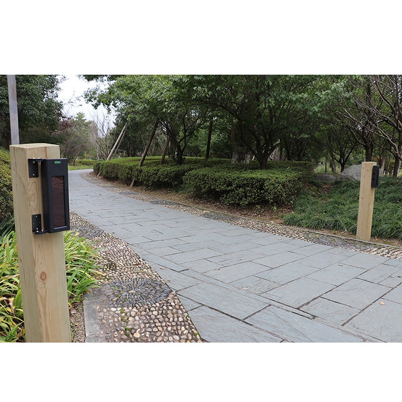 Solar Wireless Driveway Alarm System- 1/4 Mile Long Transmission Range- 190 Feet Wide Sensor Range- No Wiring No Need(EU Plug)